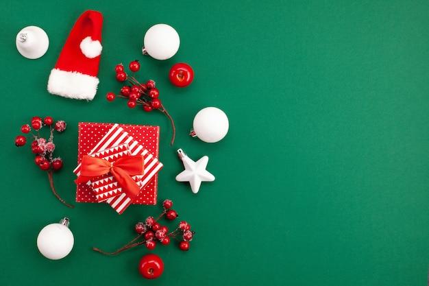 お祝いのクリスマスの装飾