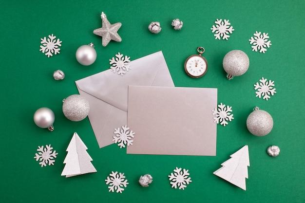 お祝いのクリスマスモックアップ