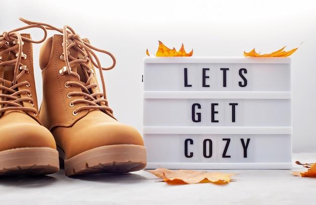 寒い日の快適な暖かい服装。