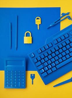 サイバーデータと情報セキュリティのアイデア。