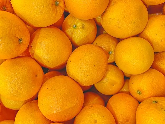 Текстура свежих мандаринов.
