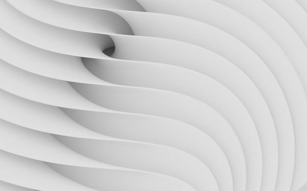 抽象的な曲線形状。白い円形の背景。