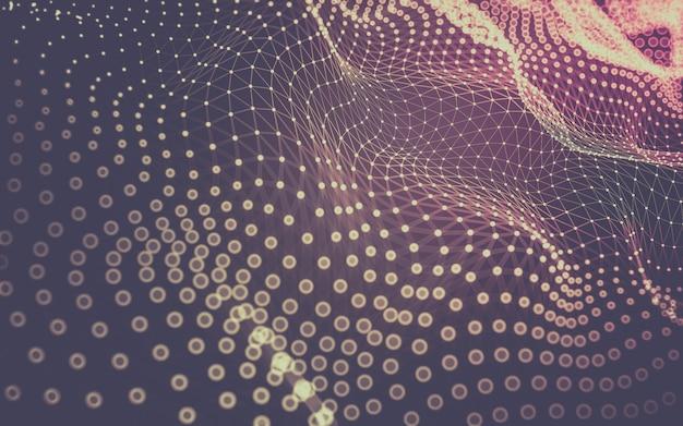 Абстрактный фон молекулы технологии с многоугольниками.