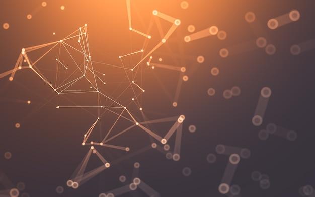 Абстрактный фон технология молекул с многоугольниками