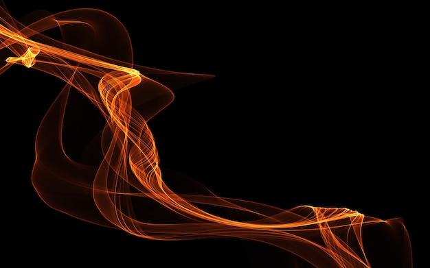 Темный абстрактный фон со светящимися абстрактными волнами
