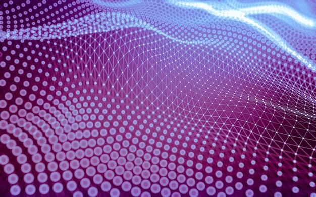Абстрактный фон технология молекул с многоугольниками, соединяющими точки и линии