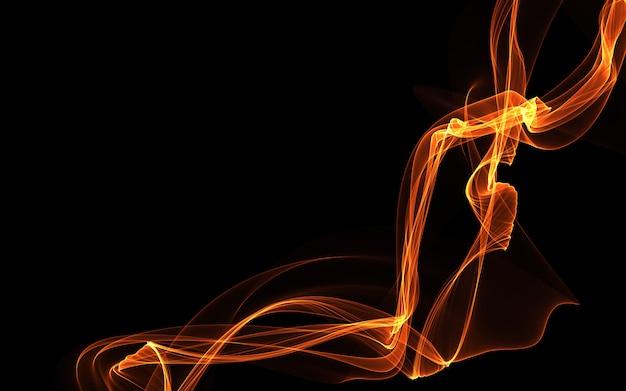 輝く抽象的な波と暗い抽象的な壁