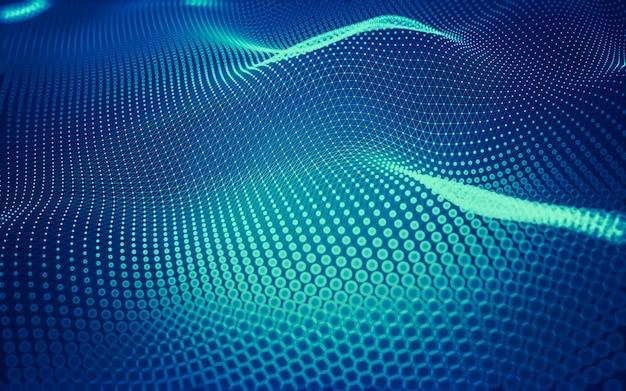 デジタル技術の抽象的な背景