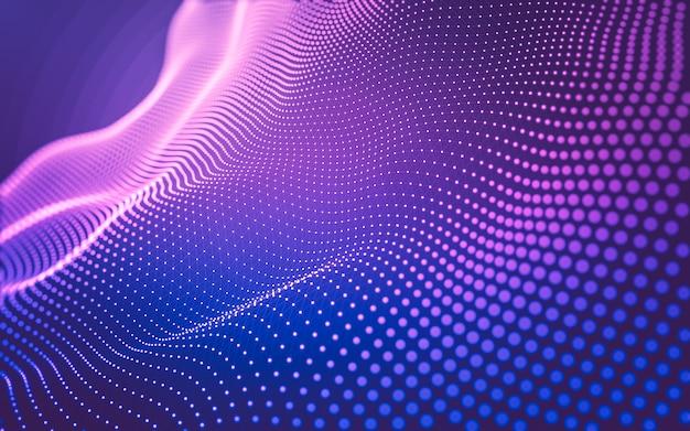 Молекулы фон с многоугольниками