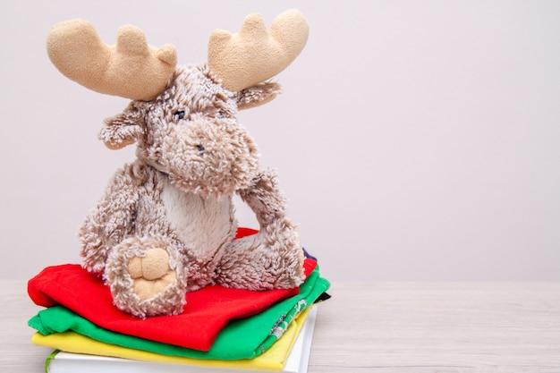 子供服、本、学用品、おもちゃなどで箱を寄付します。