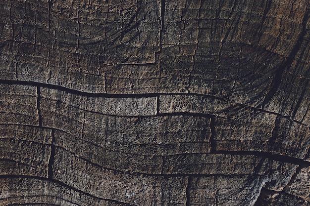 古いひびの入った木の切り株のテクスチャ背景。