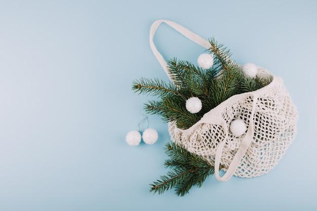 Новогодняя рождественская плоская планировка