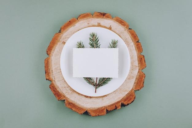 Экологически чистый новогодний фон