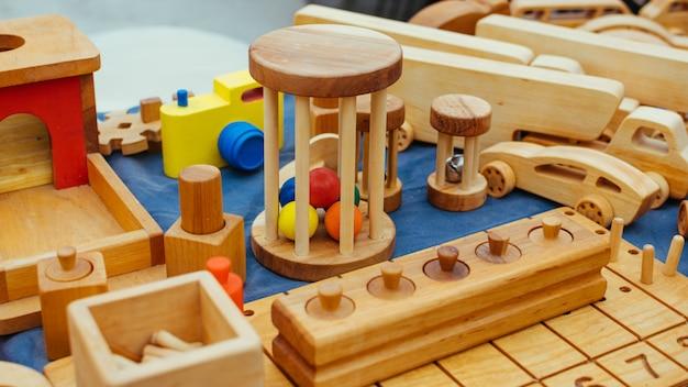 Креативные эко деревянные игрушки для малышей и детей из натурального дерева