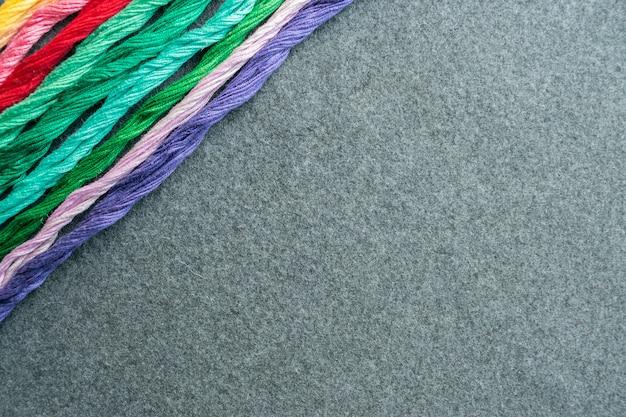 明るい多色刺繍スレッド糸