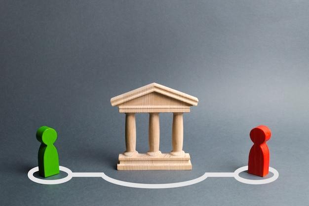 州の建物や銀行を迂回する際に接触する人々