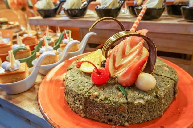 緑茶ブラウニーケーキ