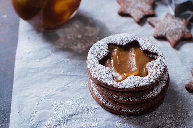 リンザーチョコレートクッキー
