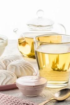 朝食のマシュマロサワークリームヨーグルトミルクピースパン用のタンパク質製品成分