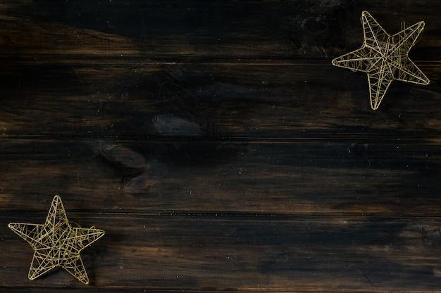 クリスマスのインテリア新年の星。クリスマスの背景のコピースペース。