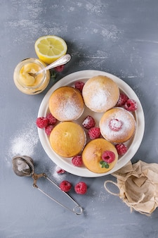 ラズベリーとレモンケーキ