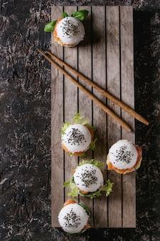 Рисовые суши бургеры