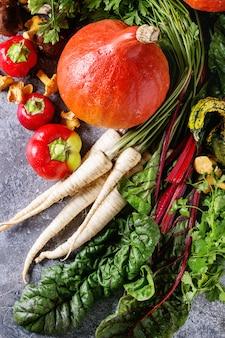 Разнообразие овощей осеннего урожая