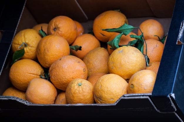 ボックス内のオレンジ