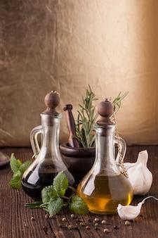 オリーブオイルとハーブ酢