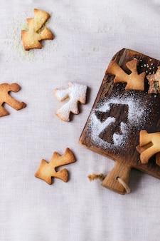 Песочное рождественское печенье для чашек