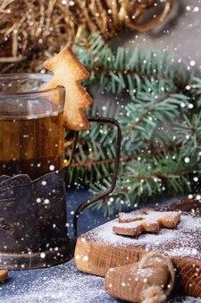 カップ用ショートブレッドクリスマスクッキー