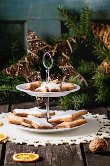 Рождественское печенье с праздничным декором