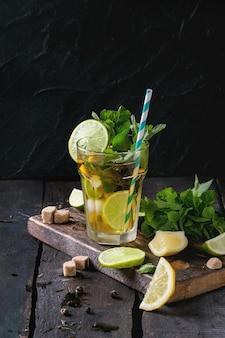 Зеленый чай со льдом