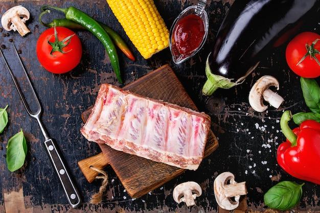 バーベキュー野菜の背景