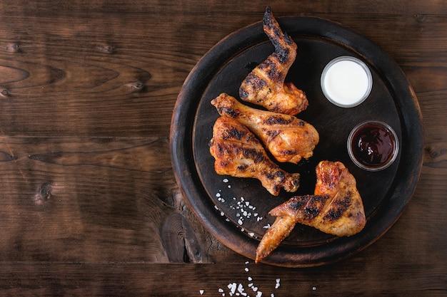 Жареная курица барбекю