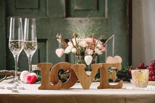 Сервировка стола в день святого валентина