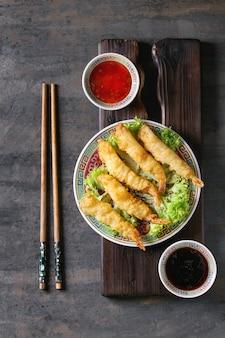 天ぷらの海老のソース炒め