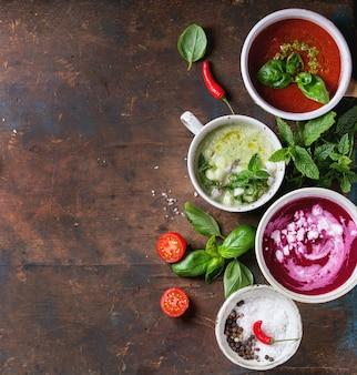 Холодные вегетарианские супы