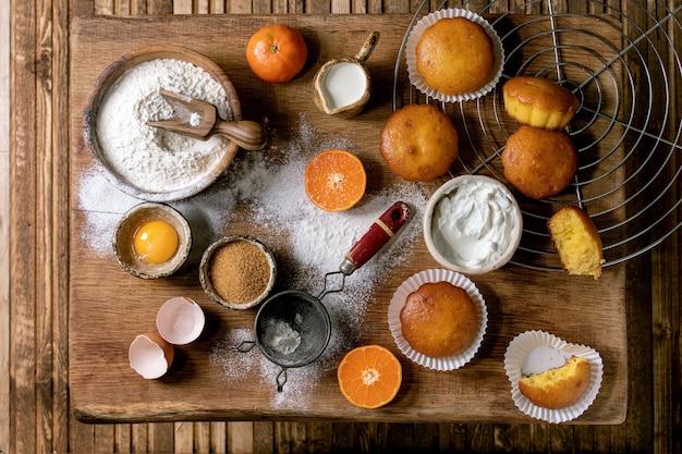 Цитрусовые апельсины кексы