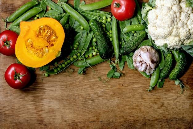 Свежие овощи для приготовления
