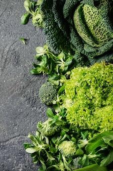 グリーンサラダとキャベツ