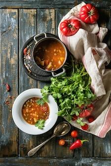 にんじんトマトエンドウ豆のスープ