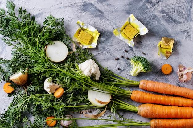 スープを調理するための野菜
