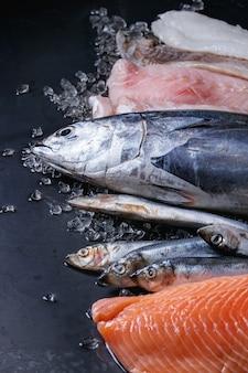 生の新鮮な魚の風刺