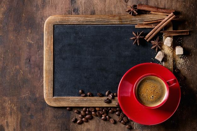 黒板とコーヒー