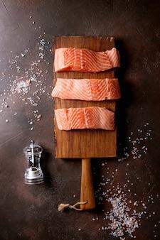 Сырое филе лосося