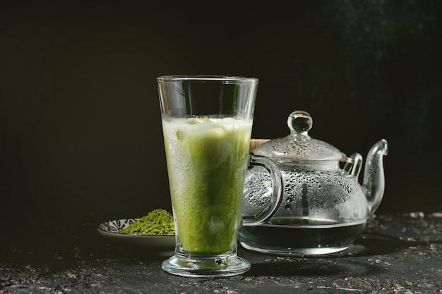 抹茶アイスラテ