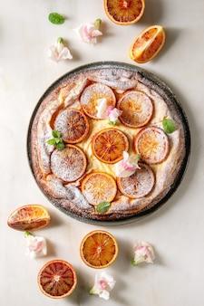 ブラッドオレンジのケーキ