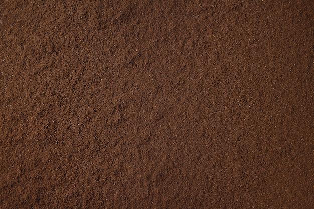 挽いたコーヒーの背景