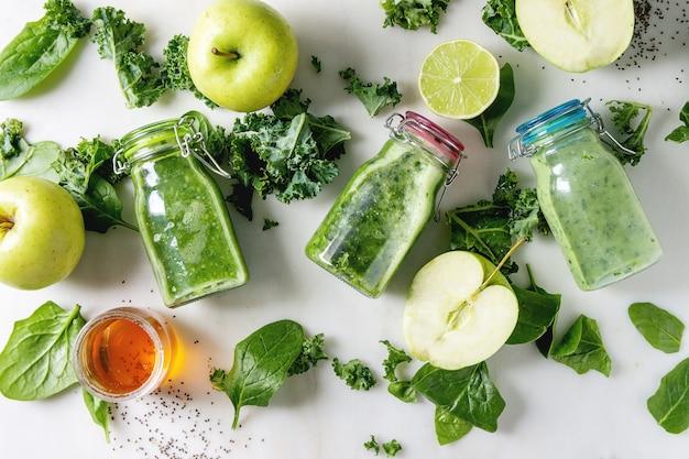Зеленый шпинат с яблочным смузи
